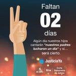 Faltan ✌️ días. No podemos bajar la guardia. #EstoApenasEmpieza #JusticiaYa #4J #RenunciaYa http://t.co/c5YYzKfBQr
