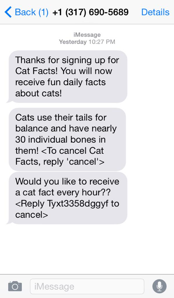 who signed me up for this i love cat facts so guess jokes on u