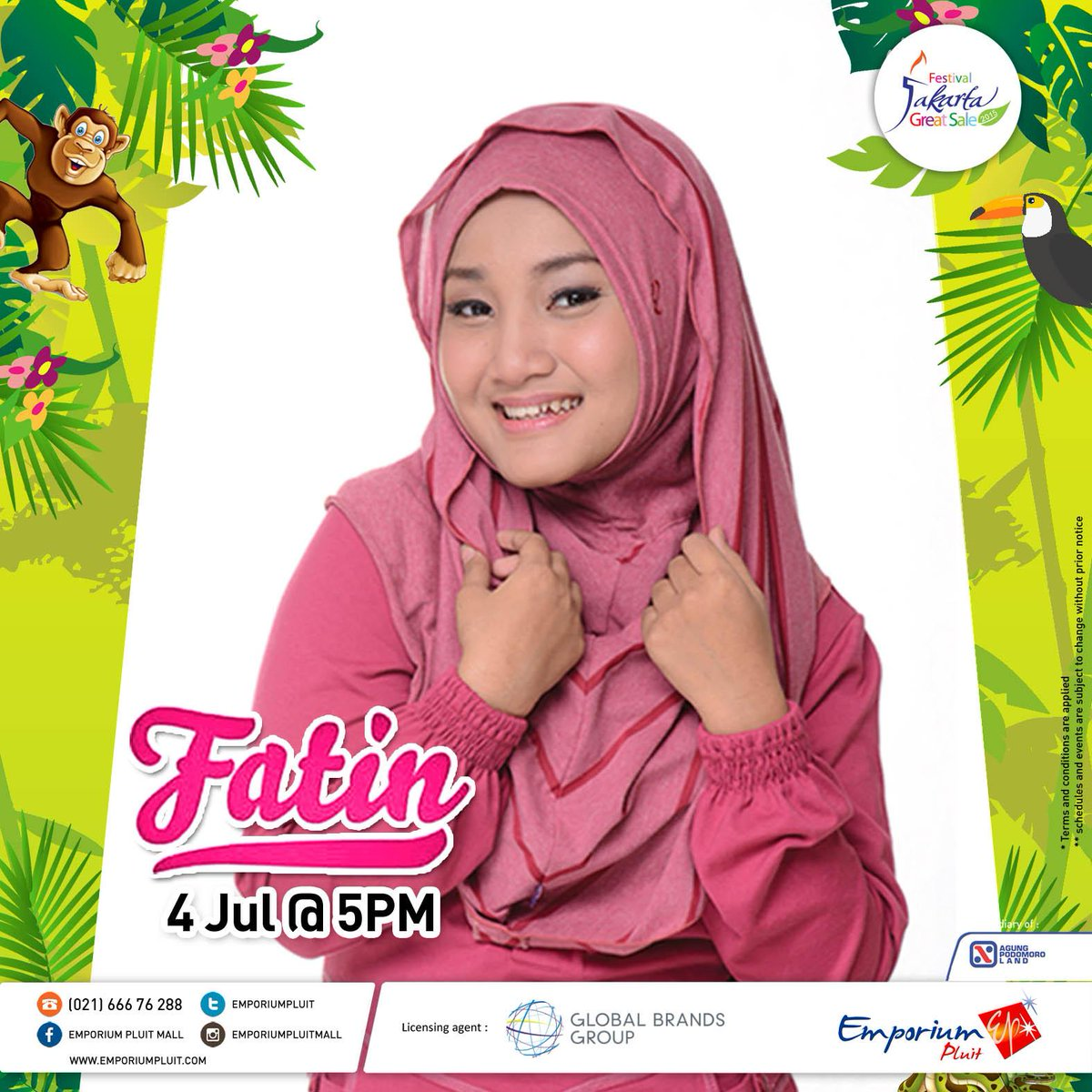 Tomorrow! Special performance by @FatinSL on 4 Jul 2015 at 5 PM. Don't miss it ;) #FatinConcert #framadhan #FansFatin http://t.co/ZID7nN73kN