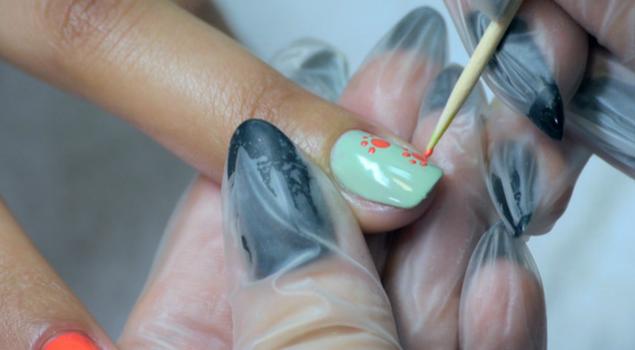 Дизайн ногтей зубочисткой
