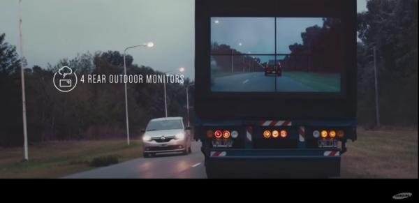 大型トラックを透明化して追い越しの安全を確保する実験 http://t.co/f2wmLQKi2x http://t.co/Dq11rrbJsN