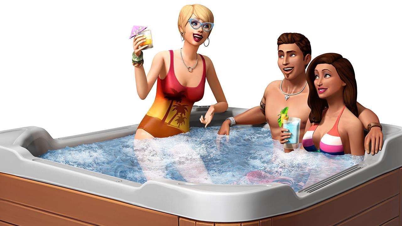 interactive hot tub girl № 21595