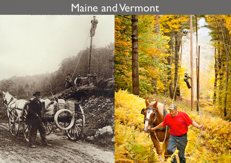 Bringing electricity to Maine in 1900. Bringing broadband to Vermont in 2012. I never tire of these photos. http://t.co/kmbJvbdiHX