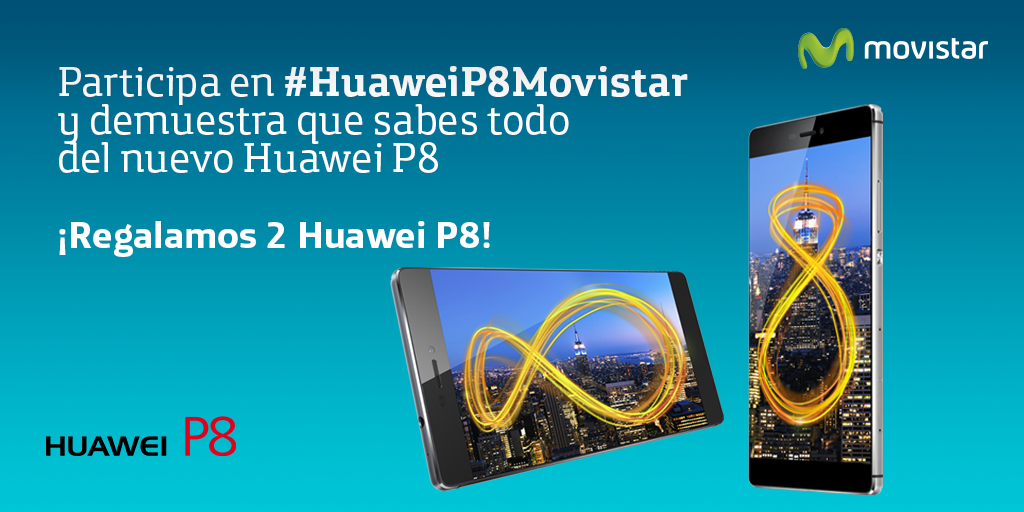 Concurso #HuaweiP8Movistar ¡Gana un Huawei P8!  1-Haz RT  2-Sigue las instrucciones ▶ http://t.co/bFYvPrxPBD http://t.co/etveoCsUTc