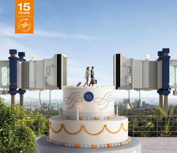 Happy 15th Anniversary @skyteam! We're proud to be part of the journey since