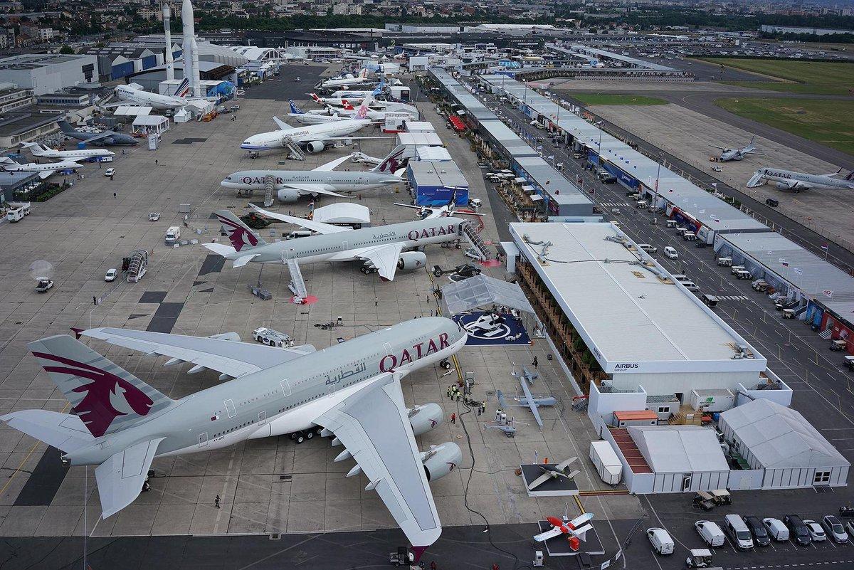 الخطوط الجوية القطرية تختتم أسبوعاً تاريخياً في معرض باريس للطيران