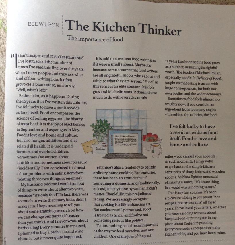 'Everyone needs a companion at the kitchen table'. My last column, from yesterday's Stella magazine http://t.co/328McdPWSG