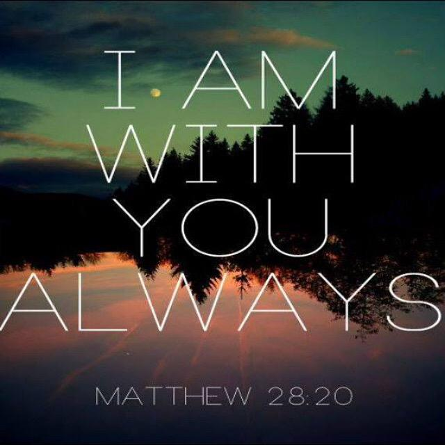 """Rest in these words today! ..And surely I am with you always, to the very end of the age."""" http://t.co/ZCFtWHBZfq"""