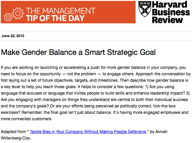 Today's management tip: Tackle bias without making people defensive http://t.co/Uqt8lPgpqR