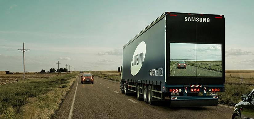 "Samsung's ""Safety Truck"" allows drivers to see the road ahead before passing: http://t.co/e1WdPHc4MX http://t.co/gpisCTIelf"
