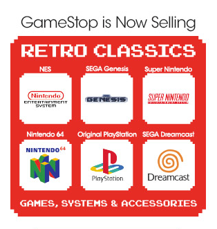GameStop (@GameStop): Retro gamers, rejoice! Vintage systems & games are now available on http://t.co/1XQqspySi1. http://t.co/TlokLjX2BX http://t.co/oHV8F65M05
