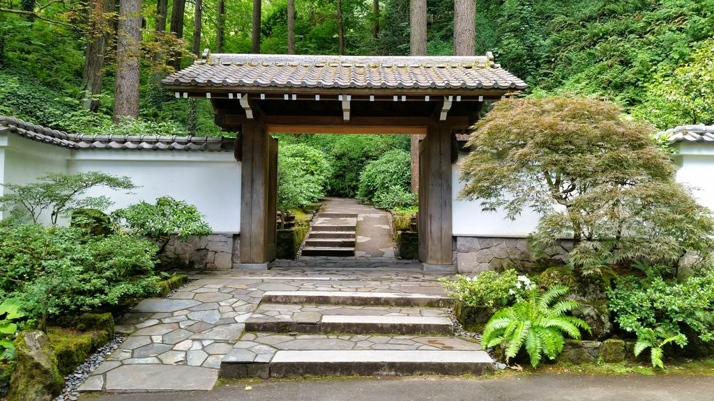 The beautiful and tranquil entrance to @PDXJapaneseGdn http://t.co/dFzan025Th