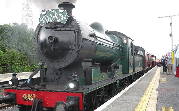 Ireland's new steam train has the world's only bar car serving draught Guinness.