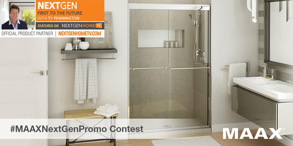 WIN the Kameleon shower door used in my #NGHTV home! Follow @maaxinc & RT #MAAXNextGenPromo for a chance to win! http://t.co/3t6rtBjOmo
