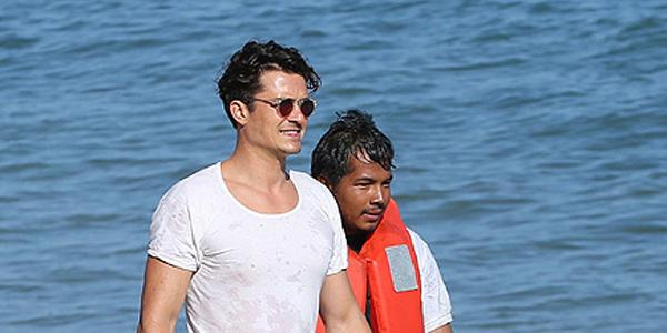 Former pirate (teehe) Orlando Bloom helped a stranded jet skier on