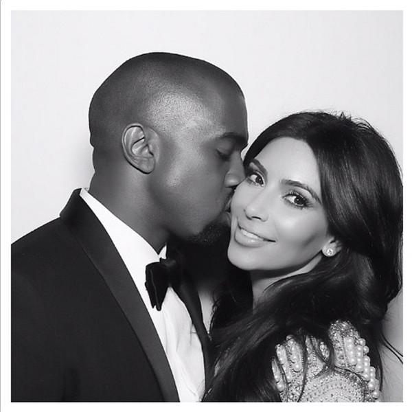 """Everybody say awww. Kim & Kanye feel """"beyond blessed"""" to be expecting a baby boy:"""