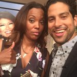 Our beloved @JulieChen is out this wk but somehow still found a way to photobomb me and @_Adam_Rodriguez. Nefarious! http://t.co/siW9wdSR2n