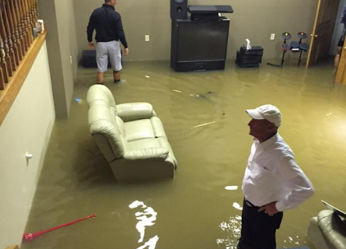 Incroyable Ohio State Coach Urban Meyeru0027s Basement Floods After Heavy Ohio Rainfall  (MORE PHOTOS)