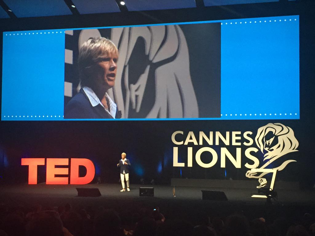 """I would rather fail a million times than be a timid soul, afraid of living my life at large"" @diananyad #CannesLions http://t.co/13ZrParFt6"