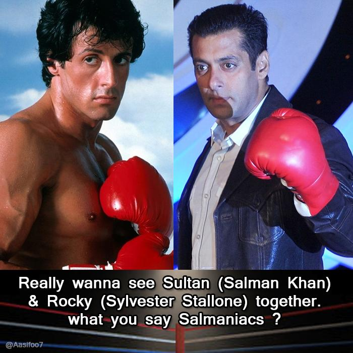 one request to @yrf Bring @BeingSalmanKhan & @TheSlyStallone together for #SultanEid2016 sureshot international hit http://t.co/tj53Xa2HCe