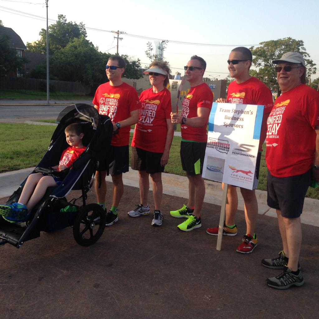 Ashley Kringen (@Ashleykringen): The torch has arrived! Families and relay teams raising funds & awareness for the Special Olympics @kfor #teamstephen http://t.co/OulvkgbKZE