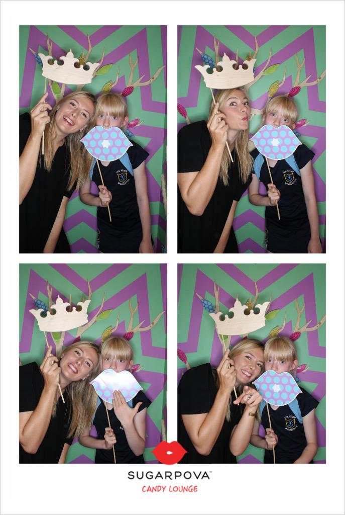 RT @CowEvents: Photobooth fun! @MariaSharapova @Sugarpova #PovaPopUp #Wimbledon2015 http://t.co/0v1EnVFa1A