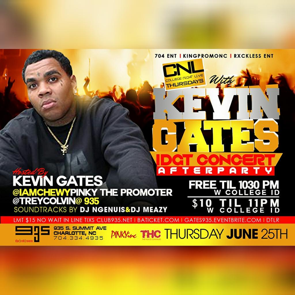 Thursday @club935 Will Be Crazy #IDGT @iamkevingates Will be In The Building Also Hosted by @iamCHEWY5 http://t.co/PgufE19ij9