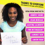 Thank you so much to everyone who donated to support the Serena Williams Fund and @eji_org !!