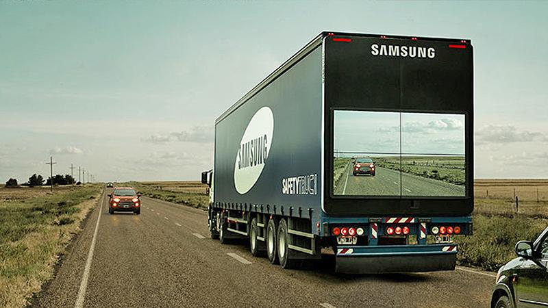 #Samsung creates #transparent #SafetyTruck to make overtaking 18-wheelers safer http://t.co/udpg4rgI2c http://t.co/KmvOCPe1YP
