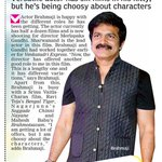 RT @sillijo: @actorbrahmaji gets one more good role, DC from 24th June