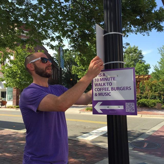 Walk [Durham] getting installed all over downtown over next few days. http://t.co/skyXMmMEHZ http://t.co/jbhPAdQfoS