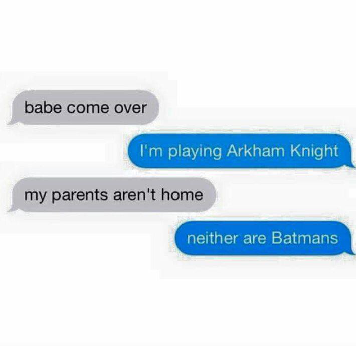 Oooh, so harsh. #BatmanArkhamKnight http://t.co/qNYROtvH6F