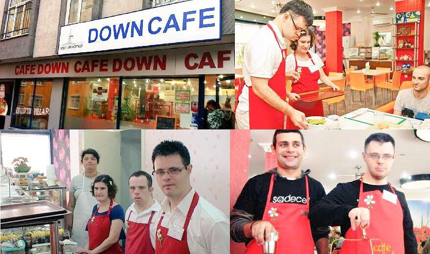☕️داون كافيه مقهى جميل العاملين فيه من ذوي #متلازمة_داون افتتح في اسطنبول.ونتمنى ان نشاهده بالرياض فهم قادرون ع العمل http://t.co/frmR0B1gLs