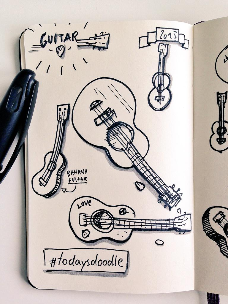 #todaysdoodle play different guitars today - good practise:) http://t.co/OVOluMYPWW
