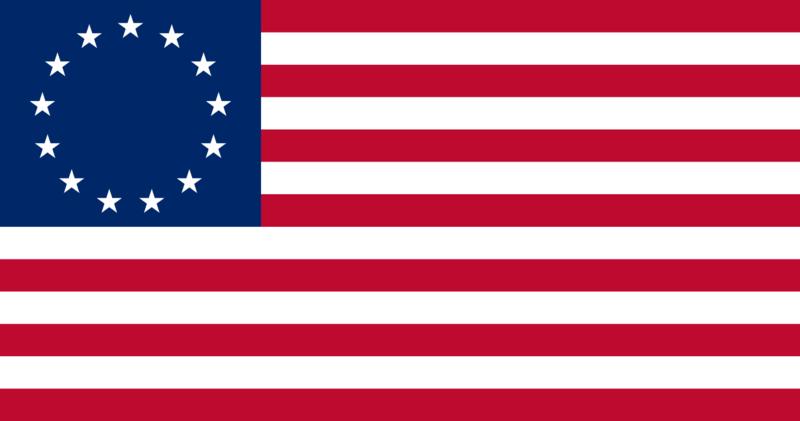 13 звезд - 13 освободившихся...  Начинали в США в XIX веке вот с чего.