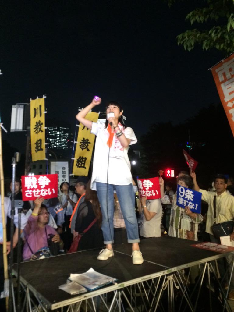 【速報】国会前で3万人規模のデモ開催中wwwwww 「安倍晋三は今すぐ退陣!」とシュプレヒコール