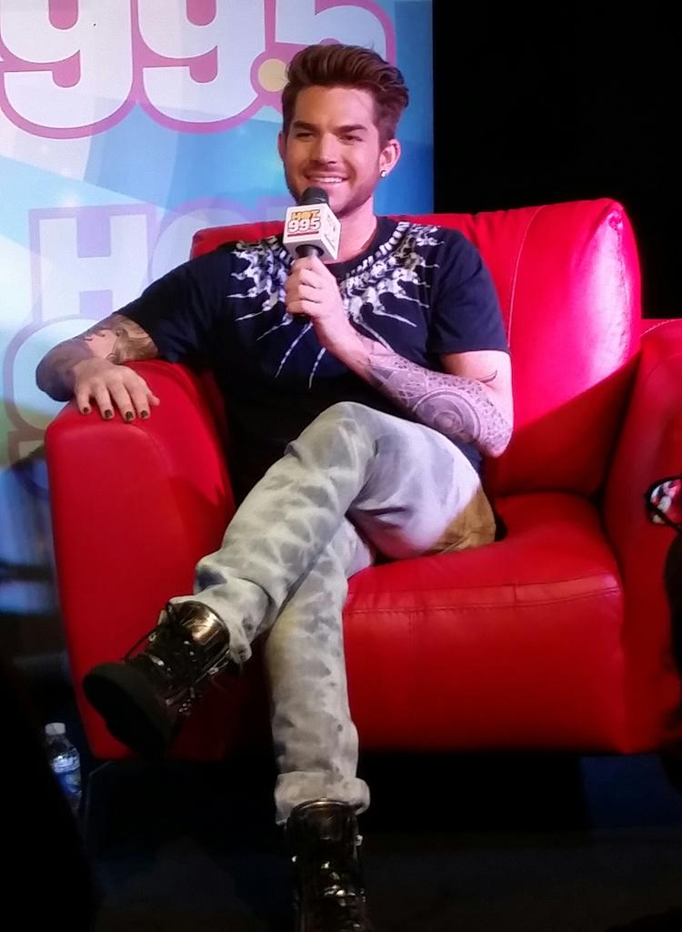 Look at this beautiful human all up in the studio this morning! @adamlambert http://t.co/RetVDOKZOt