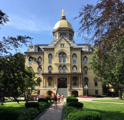 Made it to South Bend and the beautiful campus of Notre Dame. Can't wait to ketchup with everyone around town. http://t.co/4Hym2sVT82