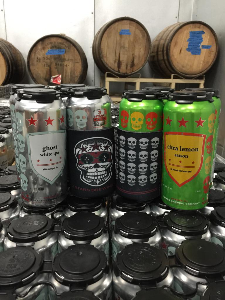 Cans and koozies are ready for tomorrow's launch event. First 500 customers get a koozie with your can purchase. 4pm http://t.co/XazoWC31eV