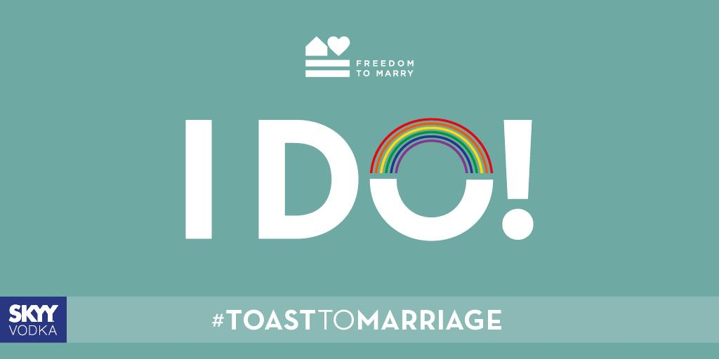 Say I DO to the freedom to marry nationwide! #marriageequality #toasttomarriage #lgbt #SCOTUS @freedomtomarry http://t.co/N2pNhqGBOF