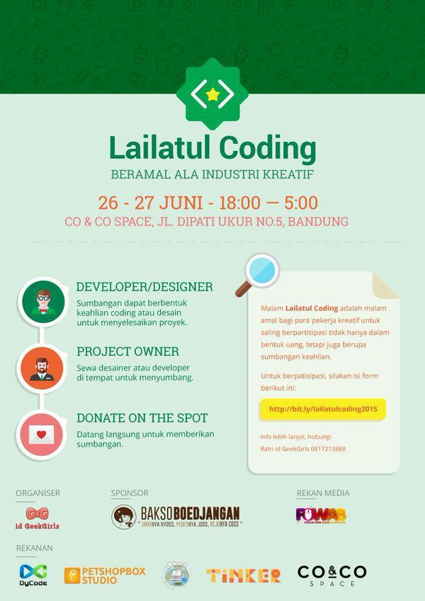 Sahur, sahur! Hai semua, yuk ikutan amal ala industri kreatif di Lailatul Coding Jumat ini! http://t.co/C55zTmjFWe http://t.co/kIFdtxOXaE