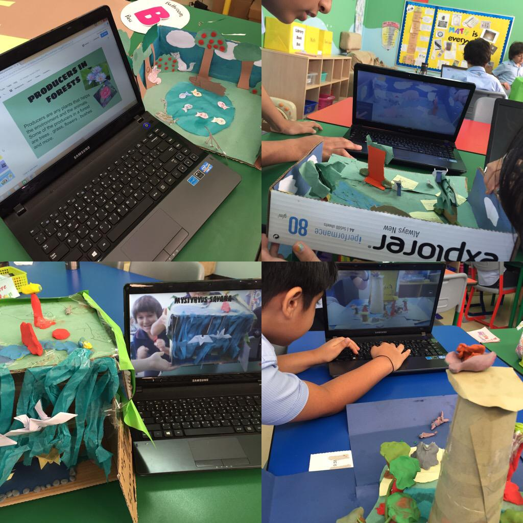 Schools almost out! We are having fun building ecosystem models and using tech to present! #pypchat #Edtech #3rdchat http://t.co/jN1mz6VPef