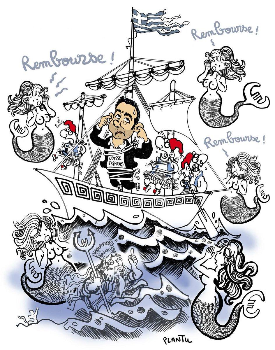 Grece Europe Les Sirenes D Ulysse Tsipras Le Dessin De L Express