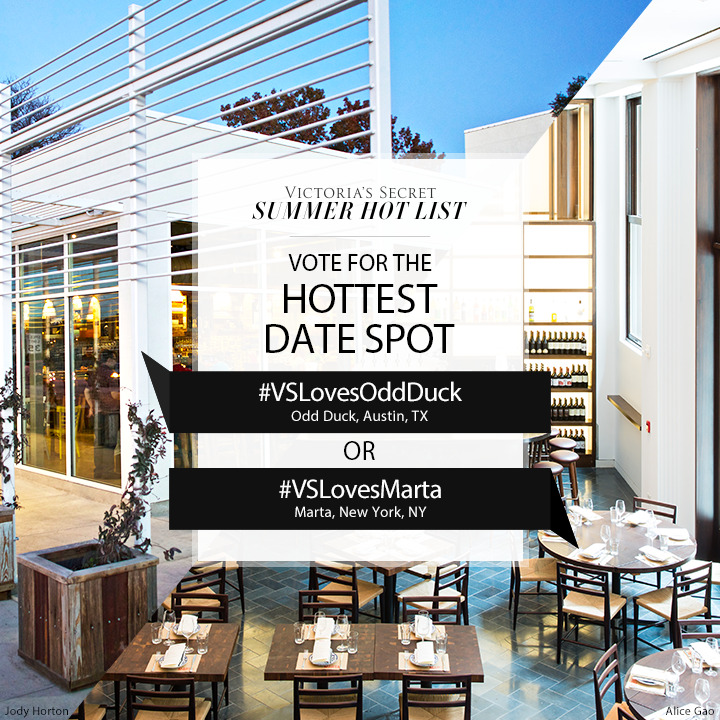 #VSLovesOddDuck or #VSLovesMarta? Tweet to VOTE for Hottest Date Spot on our #SummerHotList. http://t.co/F52WUBN5Oj