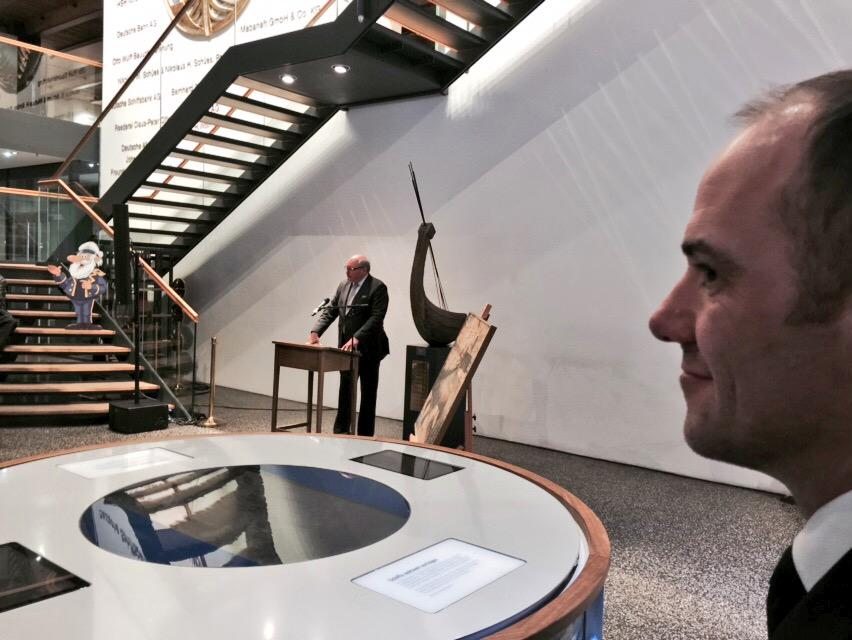 BEST OF: Belgian Ambassador Ghislain D'Hoop as honorable guest @GOSTest1999 @thenwd2015 Reception @maritimesmuseum http://t.co/T66EKAJucA