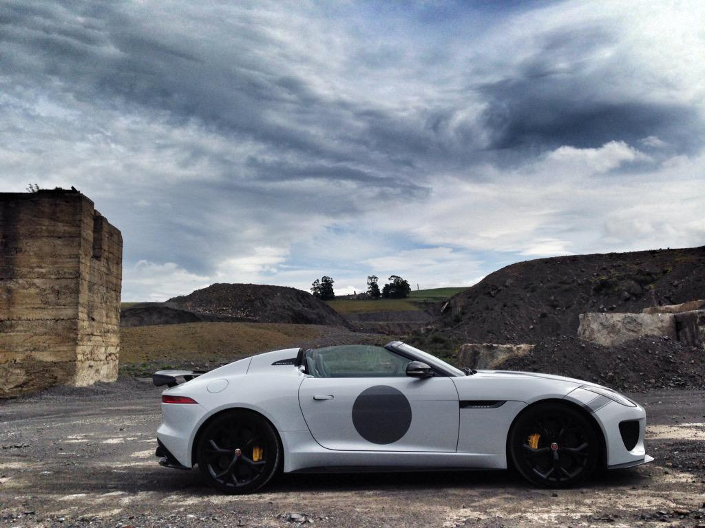 Well, it's stands out in a crowd. Been driving this #jaguar #project7 and is very noisy, very fast and much fun. http://t.co/60wJ3P8ix4