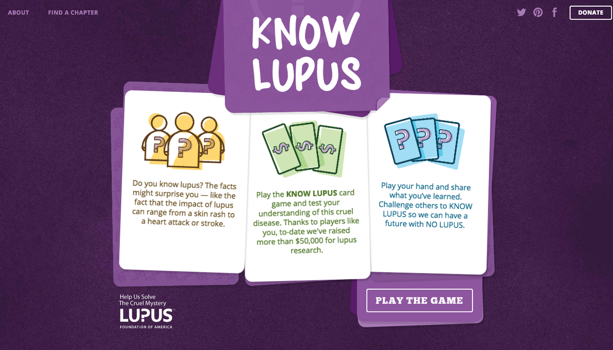 So cool! The #KnowLupus quiz we built for @LupusOrg is at the top of @ProductHunt games: http://t.co/NxvkvhnXWr http://t.co/GLkQass9my