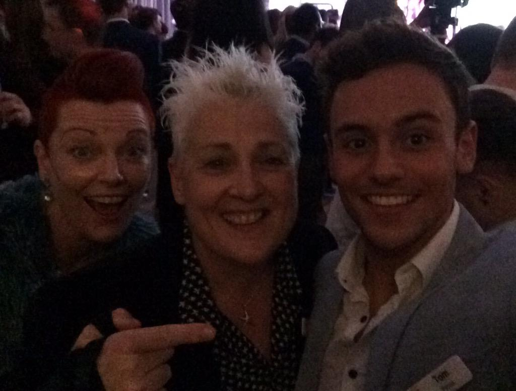 #SwitchboardSelfie @TomDaley1994 with arch photobomber @elly_barnes @switchboardLGBT - what a great night! http://t.co/CLtGy3EGiU