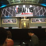 Bouncing around from table to table. My new seat. Off to a great start! #SucceedandProceed #NBADraft http://t.co/IJZOUN6Oug