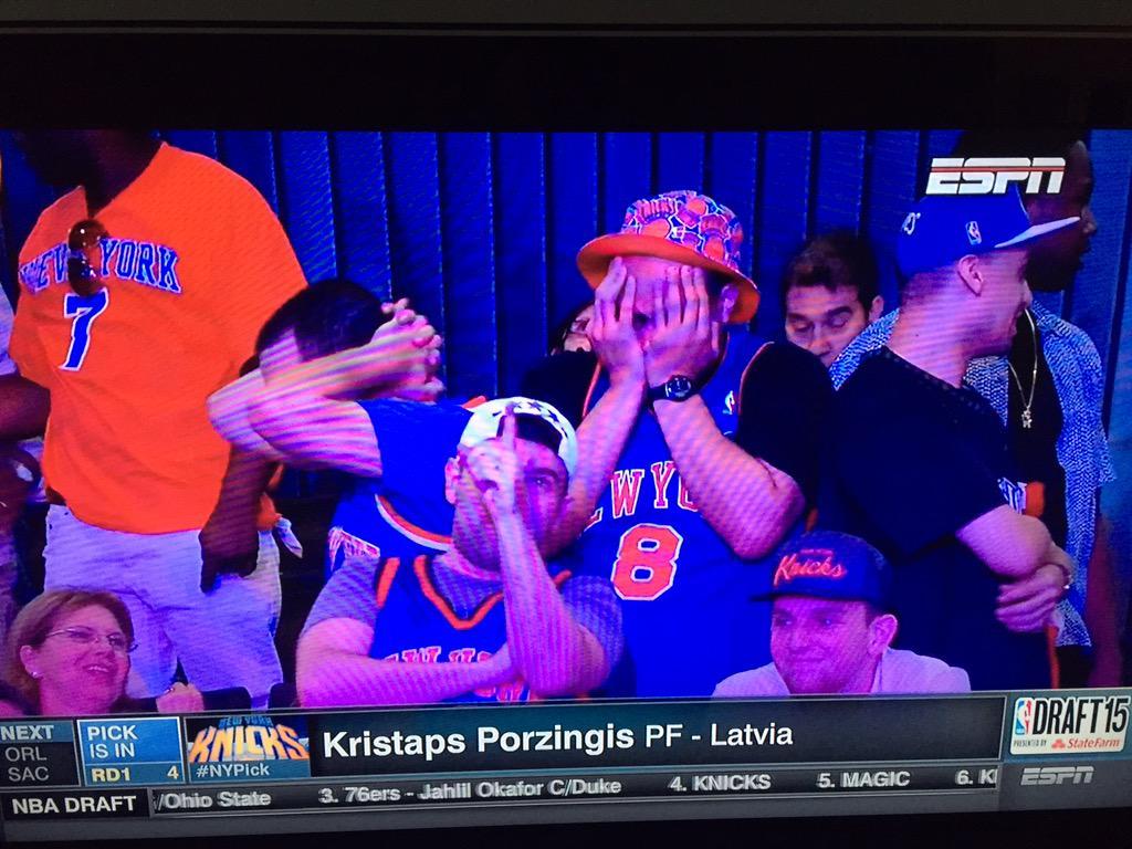 Welcome to New York, Porzingis! http://t.co/XhrtK3lPFk